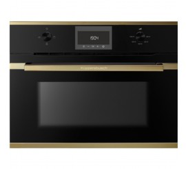 Kuppersbusch Comfort+ CBM 6330 Cuptor microunde compact, negru, design gold