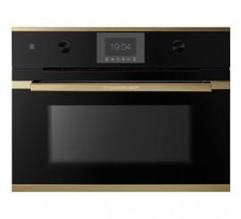Kuppersbusch Comfort+ CBM 6550 Cuptor microunde compact, negru, design gold