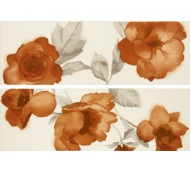 Marazzi Colourline Ivory/Orange Decor 22x66 cm