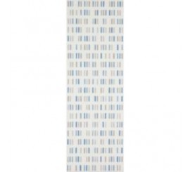 Marazzi Colourline White/Blue/Grey Decor 22x66 cm