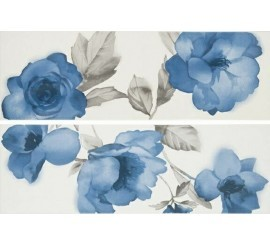 Marazzi Colourline White/Blue Decor 22x66 cm