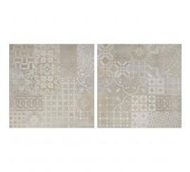 Marazzi Plaster Butter/Taupe/Anthracite Decor Cementine 60x60 cm
