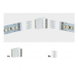 Paulmann MaxLED Set conector banda LED pentru margine, 12 bucati, alb