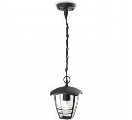 Philips Creek Lampa suspendata 1x60W, negru