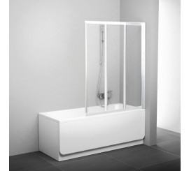 Ravak BeHappy VS3 Paravan cada cu 3 elemente 115 cm, alb/transparent