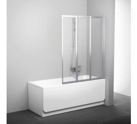 Ravak BeHappy VS3 Paravan cada cu 3 elemente 130 cm, satinat/transparent