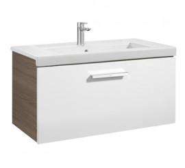 Roca Unik Prisma Set mobilier baie cu lavoar 80x46xH45 cm, alb/gri
