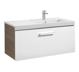 Roca Unik Prisma Set mobilier baie cu lavoar 90x46xH45 cm, alb/gri