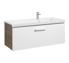 Roca Unik Prisma Set mobilier baie cu lavoar 110x46xH45 cm, alb/gri