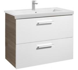 Roca Unik Prisma Set mobilier baie cu lavoar 80x46xH70 cm, alb/gri