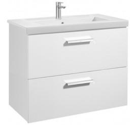Roca Unik Prisma Set mobilier baie cu lavoar 80x46xH70 cm, alb lucios