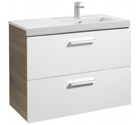 Roca Unik Prisma Set mobilier baie cu lavoar 90x46xH70 cm, alb /gri