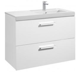 Roca Unik Prisma Set mobilier baie cu lavoar 90x46xH70 cm, alb lucios