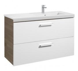 Roca Unik Prisma Set mobilier baie cu lavoar 110x46xH70 cm, alb/gri
