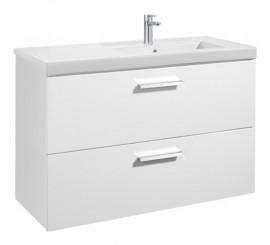 Roca Unik Prisma Set mobilier baie cu lavoar 110x46xH70 cm, alb lucios