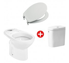 Roca Victoria Set promo vas WC cu rezervor si capac soft-close, 36x67 cm