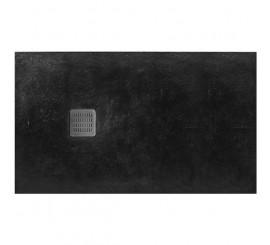 Roca Terran Superslim Cadita de dus compozit 120x80 cm, negru