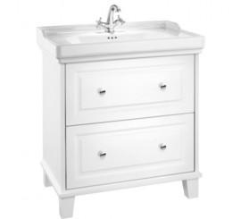Roca Unik Carmen Set mobilier de baie cu 2 sertare si lavoar, 80x50xH88 cm, alb satinat