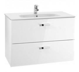 Roca Victoria Basic Set mobilier de baie cu lavoar 100x46xH57 cm, alb