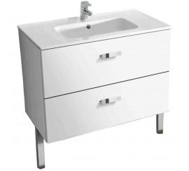 Roca Victoria Basic Set mobilier de baie cu lavoar 80x46xH57 cm, alb