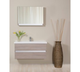 Arthema Frame Dulap suspendat cu oglinda 80 cm, stejar urban
