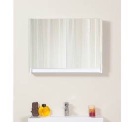Arthema Frame Dulap suspendat cu oglinda 80 cm, alb mat