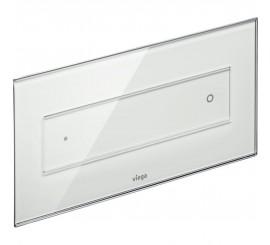Viega Visign Style 12 Clapeta de actionare WC, sticla alb