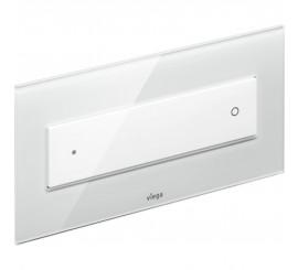 Viega Visign Style 12 Clapeta de actionare WC, sticla gri/alb