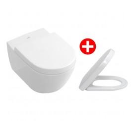 Villeroy&Boch Subway 2.0 Set Vas WC suspendat si capac soft close