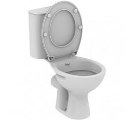 Vidima Ulysse S Set Vas WC monobloc cu functie de bideu, evacuare orizontala, 37x64 cm