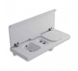 Hatria G-Full 140 Vas WC dreapta alb + bideu, 140x50 cm