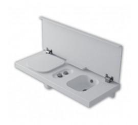 HATRIA G-FULL 140 Vas WC stanga alb + bideu, 140x50 cm