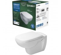 Duravit D-Code Rimless Set vas WC suspendat si capac soft-close