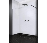 Radaway Modo New Black II Cabina de dus Walk-in 80 cm, profil negru mat